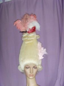 Perücke aus Büffelhaar, Marie Antoinette, Hochrokoko
